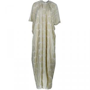 فستان طويل سان لوران باريس منقط ذهبي M