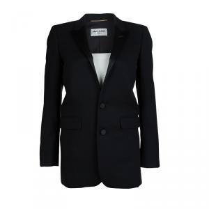 Saint Laurent Paris Black Wool Buttondown Blazer S