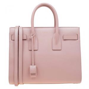 Saint Laurent Paris Blash Pink Leather Small Classic Sac De Jour Tote