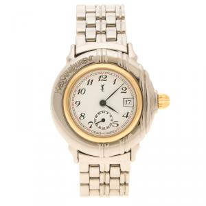 Saint Laurent Paris White Gold Plated Women's Wristwatch 32 mm