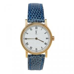 Saint Laurent Paris Gold-Plated Stainless Steel Classic Women's Wristwatch 28MM