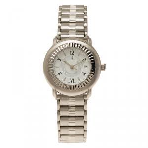 Saint Laurent Paris White Stainless Steel Herrenuhr Women's Wristwatch 28MM