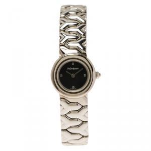 Saint Laurent Paris Black Stainless Steel Classic Women's Wristwatch 24MM