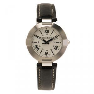 Saint Laurent Paris White Stainless Steel Classic Unisex Wristwatch 30MM