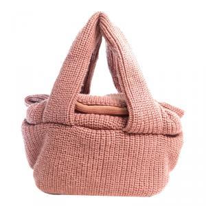 See By Chloe Pink Knit Joyrider Bowling Bag