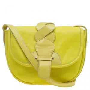 See By Chloe Yellow Lemon Leather Flap Crossbody Bag
