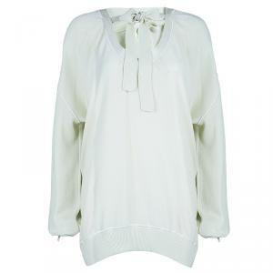 Sonia Rykiel Cream Long Sleeve Knit Top L
