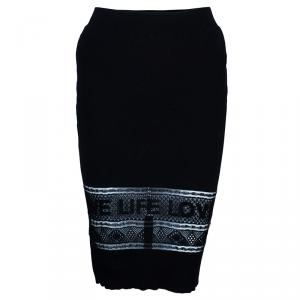 Sonia Rykiel Black Pencil Skirt S
