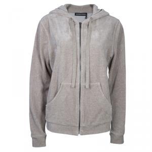 Sonia Rykiel Beige Zip Front Hoodie Jacket XL