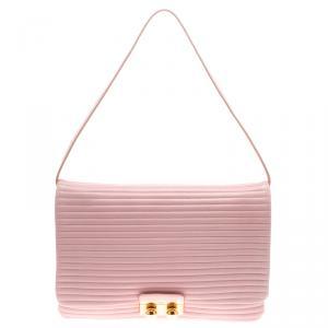 Sonia Rykiel Pink Leather Flap Bag