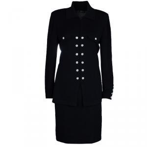 St. John Black Skirt Suit M