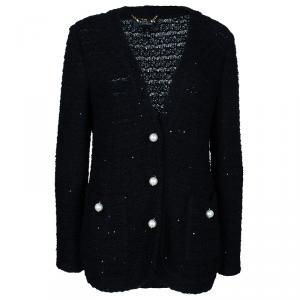 St. John Black Pearl Detail Jacket L