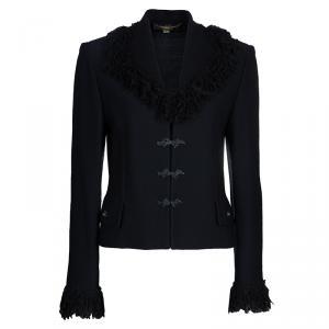St. John  Black Wool Jacket L