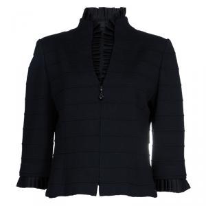 St. John Black Knit Jacket L