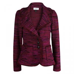 St. John Collection Pink Textured Tweed Blazer M