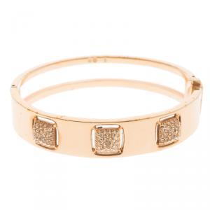 Swarovski Crystal Studded Pyramid Rose Gold Tone Bracelet S
