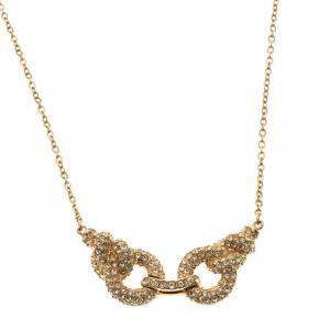 Swarovski Interlocking Rings Yellow Crystal Necklace