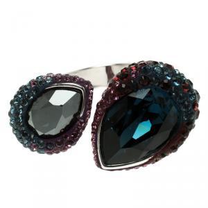 Swarovski Multicolor Crystal Studded Ring Size 52