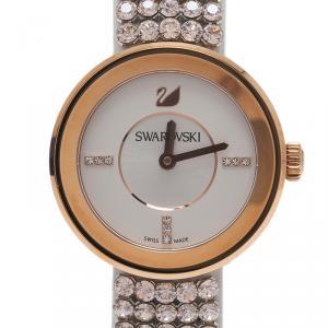 Swarovski Silver Stainless Steel Piazza Mini Mesh Women's Wristwatch 30MM