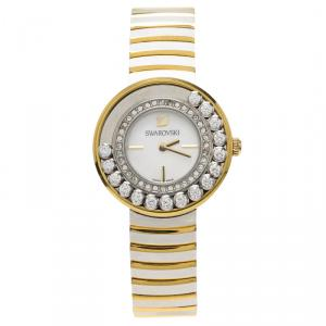 Swarovski White Stainless Steel Lovely Crystal Women's Wristwatch 35MM
