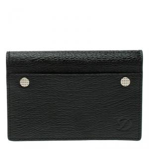S.T. Dupont Black Leather Diamond Card Holder