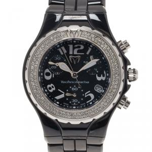 Technomarine Black Ceramic Technolady Women's Wristwatch 33MM