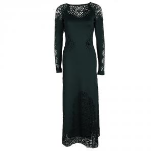 Temperley London Olive Green Laser Cut Detail Sami Dress S