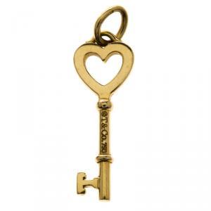 Tiffany & Co. Heart Mini Key 18k Yellow Gold Pendant
