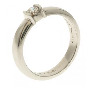 Tiffany & Co. Platinum 0.21 Diamond Solitaire Ring Size 50