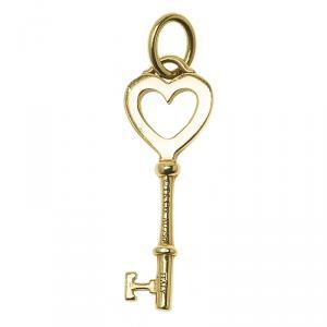 Tiffany & Co. Key Heart Mini Yellow Gold Pendant