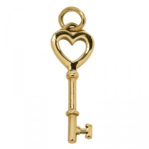 Tiffany & Co. Tiffany Keys Yellow Gold Heart Key Pendant
