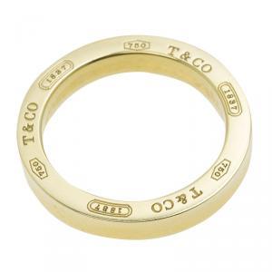 Tiffany & Co. 1837 18k Yellow Gold Circle Pendant