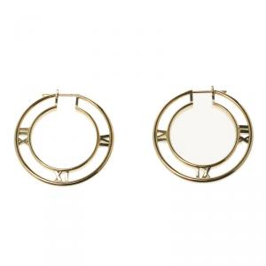 Tiffany & Co. Atlas 18k Yellow Gold Medium Hoop Earrings