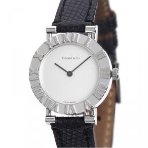 Tiffany &  Co. White Stainless Steel Atlas Women's Wristwatch 30MM