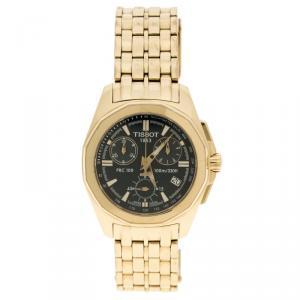 Tissot Blue Gold Stainless Steel Chronograph Women's Wristwatch 32 mm