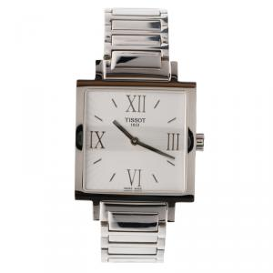 Tissot Silver Stainless Steel T-Trend Happy Chic Women's Wristwatch 29MM