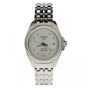 Tissot Silver Stainless Steel PRC 100 Women's Wristwatch 28MM