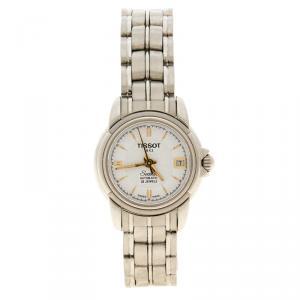 Tissot White Stainless Steel Seastar A630/70K Women's Wristwatch 24MM