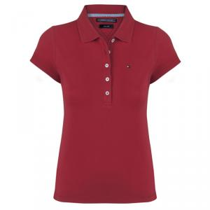 Tommy Hilfiger Red Logo Polo Shirt L