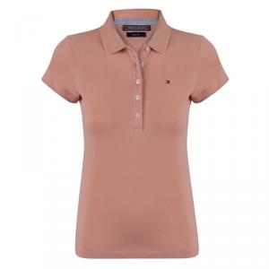 Tommy Hilfiger Light Brown Logo Polo Shirt L