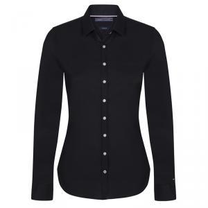 Tommy Hilfiger Black Cotton Long Sleeve Shirt M