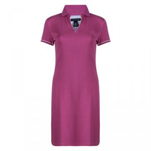 Tommy Hilfiger Pink Cotton Polo T-Shirt Dress L