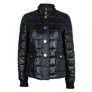 Tory Burch Black Colin Quilted Bomber Jacket M