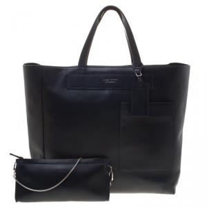 Tumi Navy Blue Leather Boulevard Tote