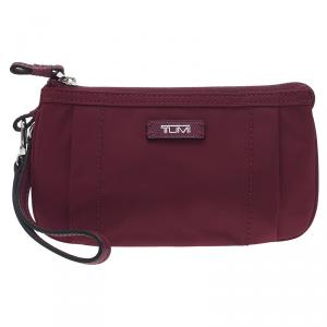 Tumi Burgundy Nylon and Leather Voyageur Pouch