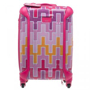 Tumi Multicolor Geometric Patterns Plastic X Jonathan Adler Continental Carry-On Suitcase