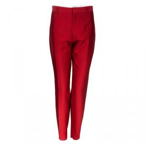 Valentino Red Tailored Trousers M
