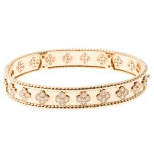 Van Cleef & Arpels Perlee Clover 18k Rose Gold Bracelet M
