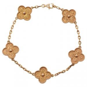 Van Cleef & Arpels Vintage Alhambra Rose Gold Bracelet