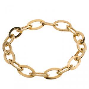 Van Cleef & Arpels Yellow Gold Oval Links Chain Bracelet